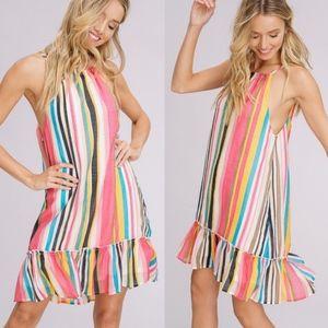 SIENNA Rainbow Midi Dress